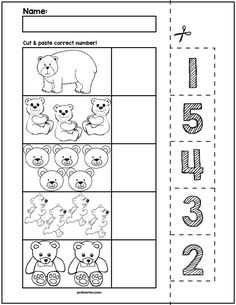 Teach counting skills with Halloween spiders! Great for teaching counting skills and number recognition for numbers No prep and great for math centers!Check out these other Halloween Math activities-Halloween Pumpkins Cut & Match Worksheets Easter Worksheets, Number Worksheets, Kindergarten Worksheets, Early Learning, Kids Learning, Learning Skills, Autism Activities, Skills To Learn, Elementary Math
