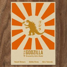 Oh no, there goes Tokyo                         Go Go Godzilla, yeah.                                              I want this in my craft room.  :)                    Godzilla 16x12 Movie Poster by MonsterGallery on Etsy, $18.00