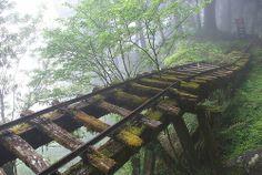 066-運材軌道-見晴懷古步道-霧景-太平山  Rails to... where?