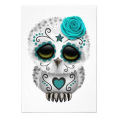 cute sugar skull owl - Google Search