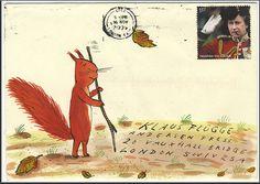 Love this one.  Dead Musician Society: Envelope Art