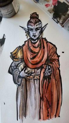 Dunmer Scholar  by Lady Nerevar