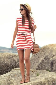 This is a cute outfit. It just occurred to me that I would never dress this nice going hiking or whatever she's doing.