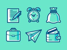 Some icons for my portfolio site.