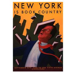 Chris Van Allsburg New York is Book Country Poster 1990