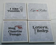 Fifty Shades of Grey coasters-16 designs. $10.00, via Etsy.