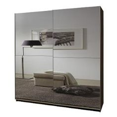 Grey mirror sliding door wardrobe, sliding door wardrobe