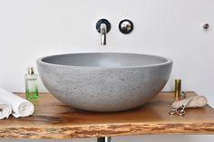 Concrete washbasin ORB By Gravelli design Tomáš Vacek Washbasin Design, Corian, Washroom, Corporate Design, Timeless Design, Concrete, Bubbles, Sink, Sweet Home