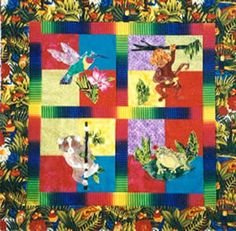 Jungle Friends ~ 4 Animals for blocks - Directions for kids quilt Applique Quilt Patterns, Animal Quilts, Friends, Kids, Animals, Amigos, Young Children, Boys, Animales