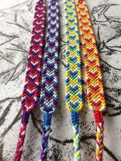 Colorful chevron friendship bracelet by adik2159 on Etsy, £7.80