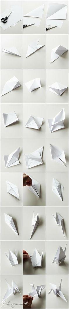 little.empty.room . origami crane diy