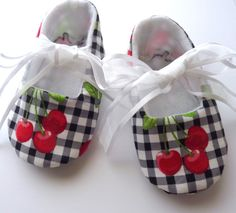 Sweet little cherry shoes