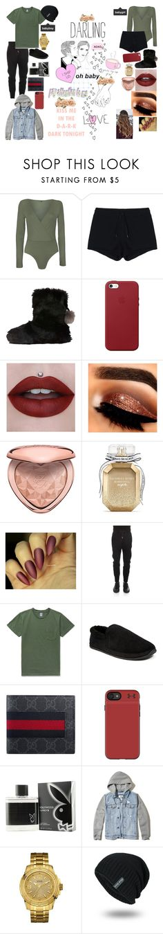 """~Together4Christmas~"" by bethdawson717 ❤ liked on Polyvore featuring WearAll, T By Alexander Wang, Ted Baker, Apple, Too Faced Cosmetics, Victoria's Secret, Helmut Lang, Velva Sheen, Deer Stags and Gucci"