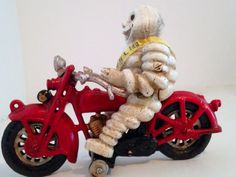 Vintage Toy Michelin Man Riding Harley by BlackCatBoneVintage, $90.00