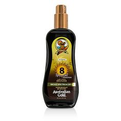 Australian Gold Sun Care Spray Gel Sunscreen Broad Spectrum SPF 8 with Instant Bronzer