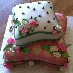 My girls princess pillow birthday cake