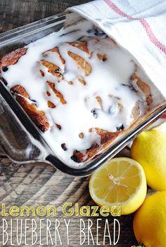 Lemon Glazed Blueberry Bread: DELICIOUS!