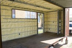 Shipping Container Homes Spray foam interior INSULATION in addition to having…