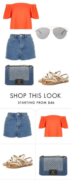 """""""Untitled #132"""" by lucyhilda ❤ liked on Polyvore featuring Topshop, Chanel and Christian Dior"""