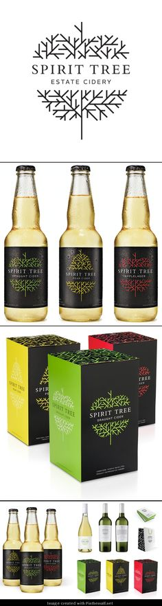 Everybody liked Spirit Tree so much I went back and got the rest of the branding story curated by Packaging Diva PD Cool Packaging, Beverage Packaging, Bottle Packaging, Brand Packaging, Design Packaging, Graphic Design Branding, Label Design, Box Design, Package Design