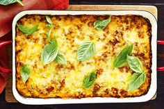 This extra cheesy bolognese bake is perfect for Sunday night cooking. Just heat and eat later in the week. Rice Bake Recipes, Mince Recipes, Beef Recipes, Cooking Recipes, Healthy Recipes, Healthy Rice, Easy Cooking, Casserole Recipes, Healthy Meals