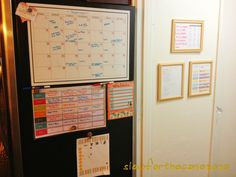 large family command center with calendar and meal chart-I did similar when all the kids were small.I would have loved to have had pinterest back then too for ideas!