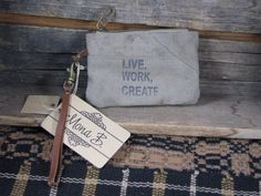 Live, Work, Create Small Pouch