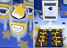 Swiss Roll Diplomas and other fun ideas for a graduation party.