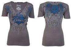 Archaic AFFLICTION Women T-Shirt HEARTACHE Tattoo Biker UFC BKE Sinful S-XL $40