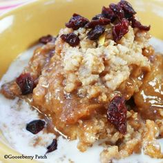 Special-Morning Oatmeal from Gooseberry Patch cookbook Slow-Cooking All Year 'Round