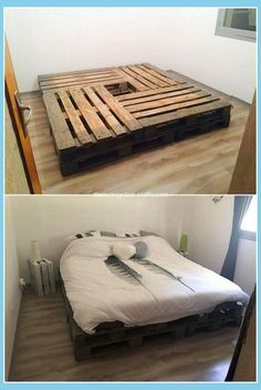 A unique pallet bed frame idea is all visible here for you that is creatively be., A unique pallet bed frame idea is all visible here for you that is creatively be. A unique pallet bed frame idea is all visible here for you that is. Pallet Bed Frames, Diy Pallet Bed, Diy Pallet Furniture, Furniture Ideas, Furniture Stores, Cheap Furniture, Pallet Couch, Furniture Websites, Wood Furniture