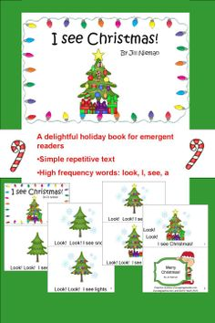 """Emergent Reader for the Christmas season!  Now with a BW version that has kids write the word """"look."""""""