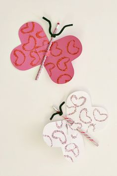 Homemade Valentine Cards: Butterfly & Pencil Valentines for Kids~ Buggy and Buddy