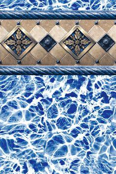 39 Cambridge Ocean Midnight 39 Pool Liner Love The Grey Blue Colors Pool Liners Pinterest