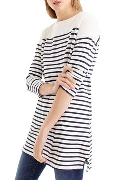 J.Crew Stripe Boatneck Tunic available at #Nordstrom