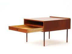 End table in teak and steel, Bovirke. Finn Juhl.