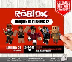 Roblox Invitations Invitation Download Invites Birthday Party Instan