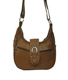 Genuine Leather Concealed Carry Handbag / CCW Fashion Hobo - Light Brown  $86.00 + Free Shipping  wantedwardrobe.com  wantedwardrobe.net  #fashion #handbags #CCW