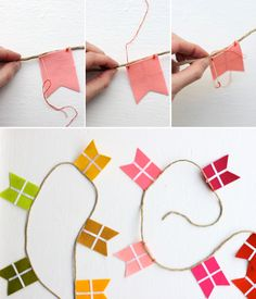 The House That Lars Built.: How to make colorful flag garland