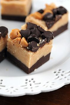 Easy Peanut Butter and Chocolate Fudge                      http://www.culinaryconcoctionsbypeabody.com/2012/12/05/peanut-butter-and-chocolate-fudge/