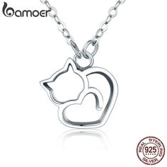 Like and Share if you want this Sterling Silver Cat Pendant Necklace! Get it her… Mögen Sie und teilen Sie, wenn Sie diese Sterling Silver Cat Pendant Necklace wollen! Cat Necklace, Necklace Price, Necklace Types, Pendant Necklace, Cat Jewelry, Jewelry Gifts, Jewelry Necklaces, Girls Jewelry, Animal Jewelry