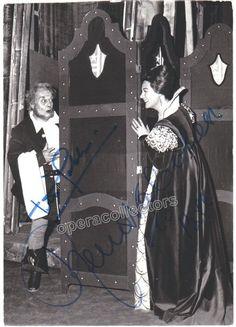 Tebaldi, Renata and Gobbi, Tito - Double signed photo in Falstaff