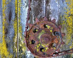 rusted farm equipment