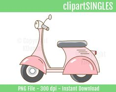 Clipart Scooter, Vespa, Motorcycle, Bike, Clip Art, Digital Art, Vintage Scooters by ClipartSingles on Etsy https://www.etsy.com/listing/234232839/clipart-scooter-vespa-motorcycle-bike
