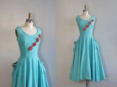 1950s dress / 50s party dress / Parfait Amour