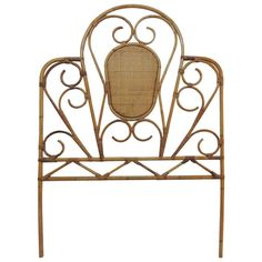 Vintage Wicker Twin Headboard | From a unique collection of antique and modern beds at https://www.1stdibs.com/furniture/more-furniture-collectibles/beds/