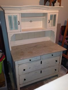 antiker schrank mit kreidefarbe in shabby chic i love chalk paint pinterest schick. Black Bedroom Furniture Sets. Home Design Ideas