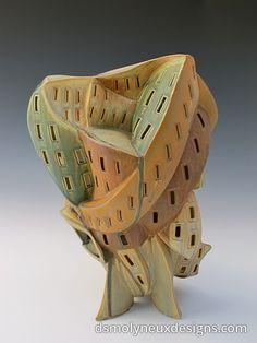 Gas fired, slab built stoneware. 2012.  Dan Molyneux.