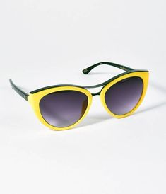 b671b295856d Perverse Retro Style Yellow Sunshine Cat Eye Miss Brenda Sunglasses