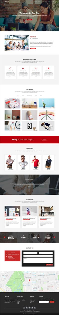 Bizcan is clean and modern design 3in1 responsive #bootstrap HTML template for #onepage creative #business agency #website to live preview & download click on image or Visit